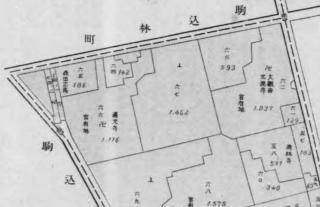 駒込蓬莱町地図